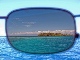 Verre de lunettes polarisant