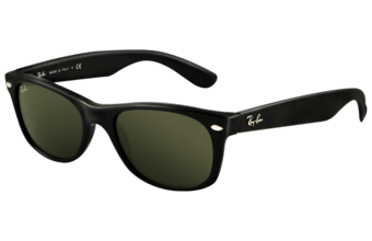 Photo de la monture de lunettes de soleil Ray-Ban New Wayfarer 2132 901 noir