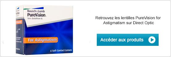 Lentilles de contact PureVision for Astigmatism