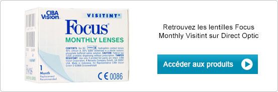 Lentilles de contact Focus Monthly Visitint