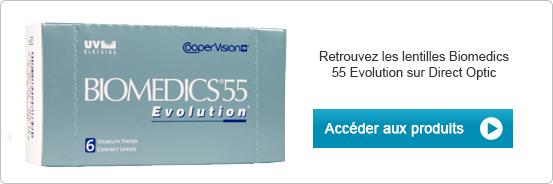 Lentilles de contact Biomedics 55 Evolution