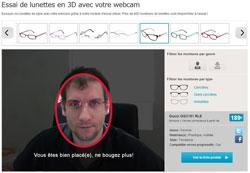Essai virtuel de lunettes